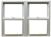 "VINYL DOUBLE HUNG MULL ROUGH OPEN 63 1/4"" X 54 3/4"""