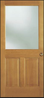 "1/2 LITE UNFINISHED ENTRANCE DOOR 34 1/2"" X 82 1/2:"""