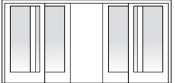 "FRENCHWOOD GLIDING 4 PANEL DOOR R/O 190"" X 83"""