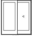 "ULTIMATE SLIDING FRENCH DOOR R/O 73 5/8"" X 82 1/2"""