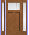 "ENTRANCE DOOR W/ 2 SIDELITES R/O 66 1/4"" X 83 3/8"""