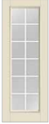 "EXTERIOR PREFINISHED DOOR W/ GRILLS  R/O 38 1/2"" X 81"""